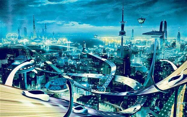 Przykładowe wyobrażenie miasta przyszłości (źródło: telegraph.co.uk)